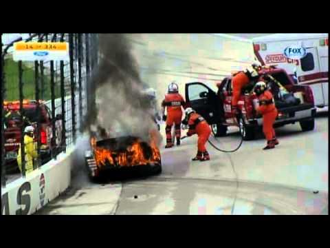 Dale Earnhardt Jr. survives fiery crash at TMS