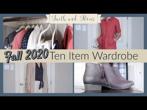Fall Ten Item Wardrobe 2020 | Capsule Wardrobe |  Transitional Outfits For Summer To Fall