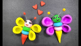 Butterfly Polymer Clay Toys Making | How To Make Butterfly From Clay | Clay Toys Making For Children