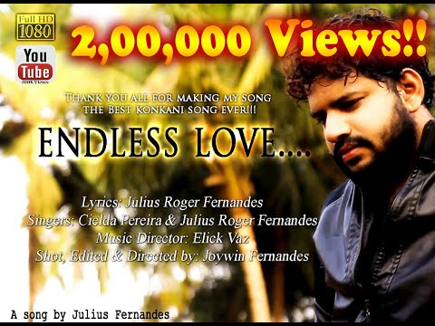 Endless Love | Konkani Love Song | Cielda Pereira | Julius Roger Fernandes |