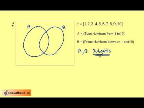 Year 8 Intro To Venn Diagrams Eg1 Youtube