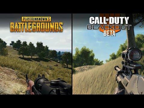 Call of Duty: Black Ops 4 - Blackout vs PUBG   Direct Comparison