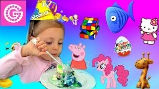 ♥День рождения дочки♥Торт свинка Пеппа 粉红猪小妹♥Подарки Пеппа школа♥Кукла Nenuco♥