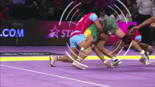 Khel Kabaddi - Sideways Flip Tackle: Rohit Rana's Genius Tackle.