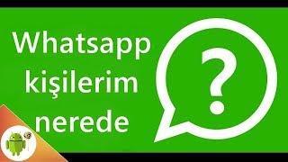 Whatsapp Kişilerim Nerede