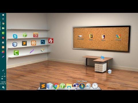 How To Customize Desktop | How To Make 3d Desktop | StarDock ObjectDock Plus