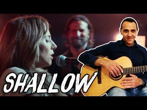 Shallow Guitar Tutorial - Lady Gaga Bradley Cooper Guitar Lesson -  A Star Is Born