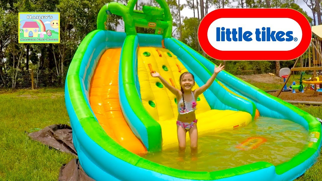 Best Water Slide Little Tikes Biggest Slide Pool For Summer Kids Activity Outdoor Play Youtube