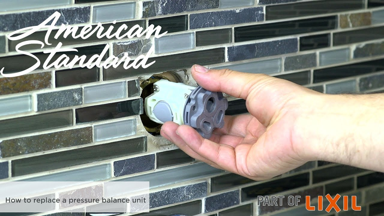 how to replace a pressure balancing unit