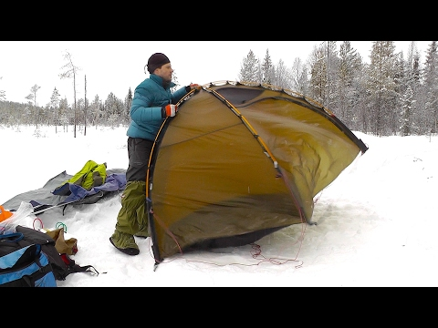 Pulk And Tent On The Snow - February Overnight