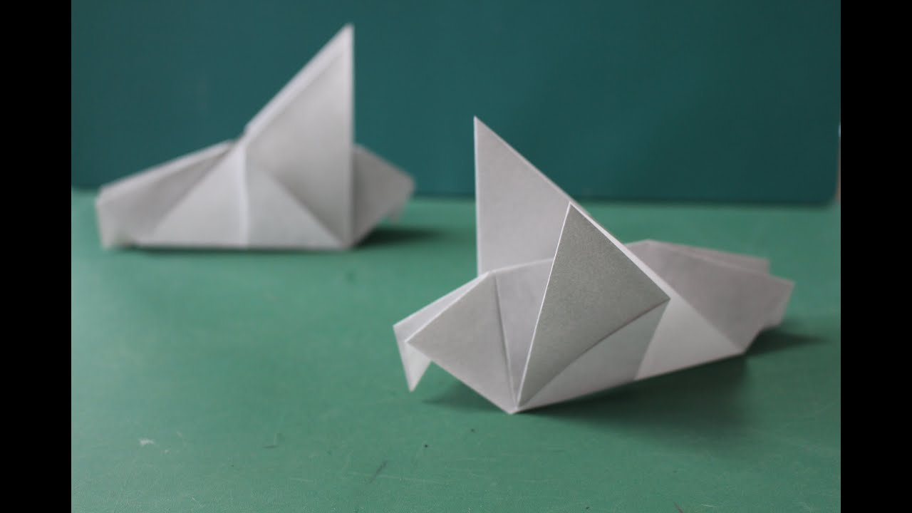 origami quotpigeonquot ��������� youtube