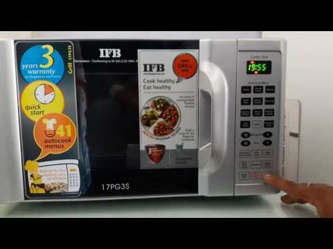 How to use  ifb microwave 17pg3s full demo
