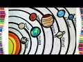 LEARN HOW TO DRAW SOLAR SYSTEM EASY STEP BY STEP NEW DRAWING FOR KIDS 2018
