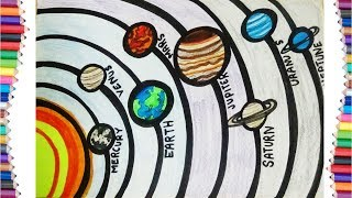 LEARN HOW TO DRAW SOLAR SYSTEM EASSY STEP BY STEP NEW DRAWING FOR KIDS 2018
