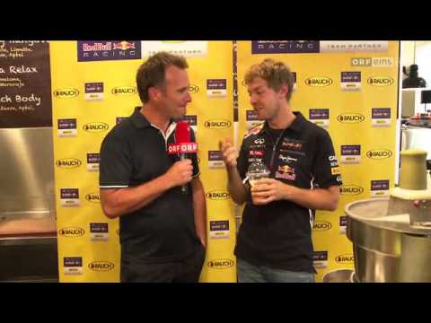 Sebastian Vettel Interview - Rauch Juice Bar Vienna