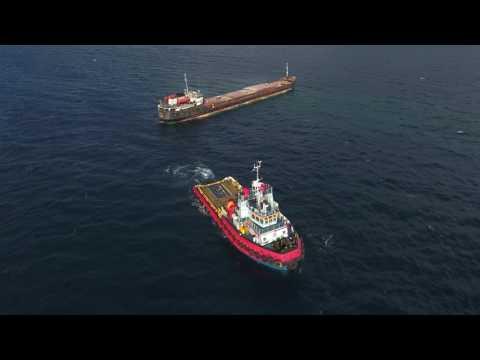 Megatugs & Smit - M/V Bellatrix run aground Lesvos island