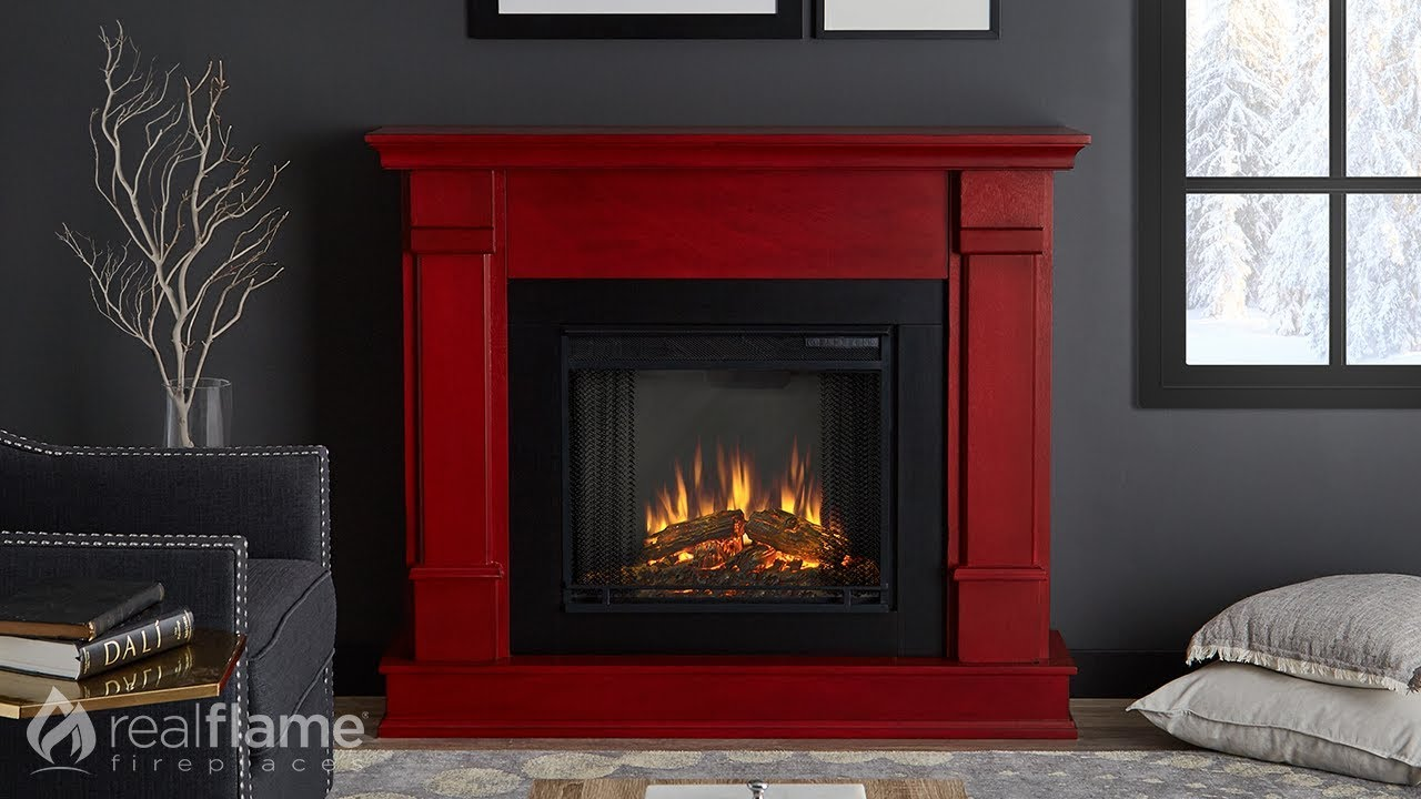 Real Flame - Silverton Electric Fireplace Mantel - YouTube