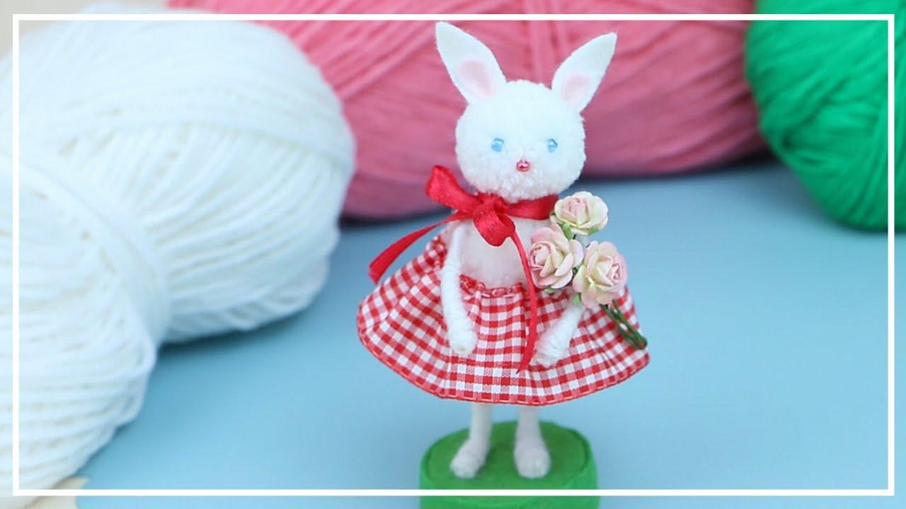 Очаровательная Маленькая Зайка из Ниток для вязания 🐰🧶🐇 Cutest Bunny of yarn making 🌟 DIY NataliDoma