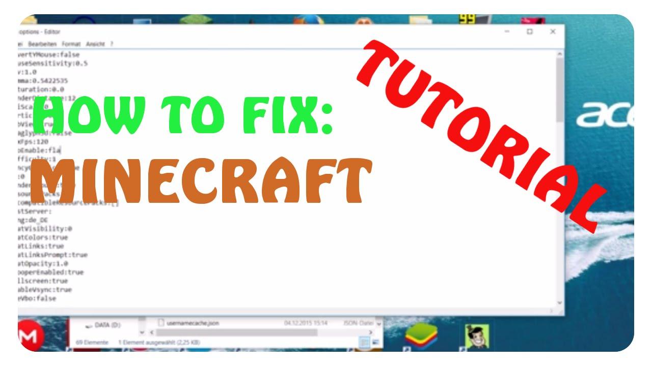 HOW TO FIX MINECRAFT STÜRZT DAUERND AB Tutorial YouTube - Pc sturzt beim minecraft spielen ab