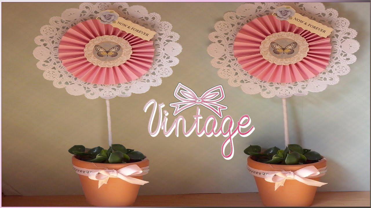 Diy como hacer centros de mesa para bodas vintage wedding - Como hacer centros de mesa de boda ...