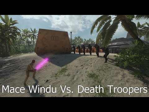 Mace Windu Vs. Death Troopers: 6 Vs. 1 - Star Wars Battlefront
