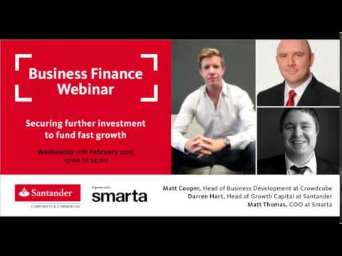 Santander Breakthrough Webinar - Securing further investment