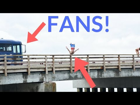 INSANE BRIDGE JUMPING - Vineyard Vlog #2