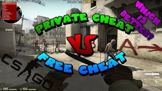 CSGO❤ | FREE Cheat Vs PRIVATE Cheat | 🏆Which is Better?🏆