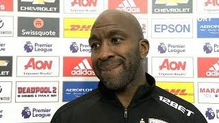 Darren Moore Post Match Reaction Interview | Man United 0-1 West Bromwich Albion | Premier League