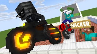 Monster School : FREESTYLE MOTORCYCLE SHOW CHALLENGE NEW EPISODE - Minecraft Animation