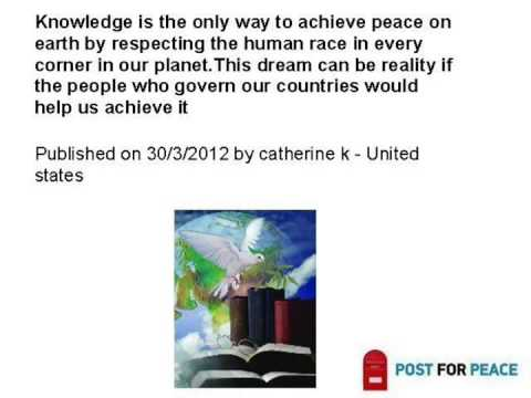 """Most touching messages from the """"Post for Peace"""" Competition"""