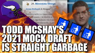 Todd McShay's 2021 Mock Draft is Straight Garbage 🚮🚮🚮