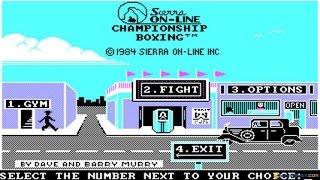 Championship Boxing gameplay (PC Game, 1984)