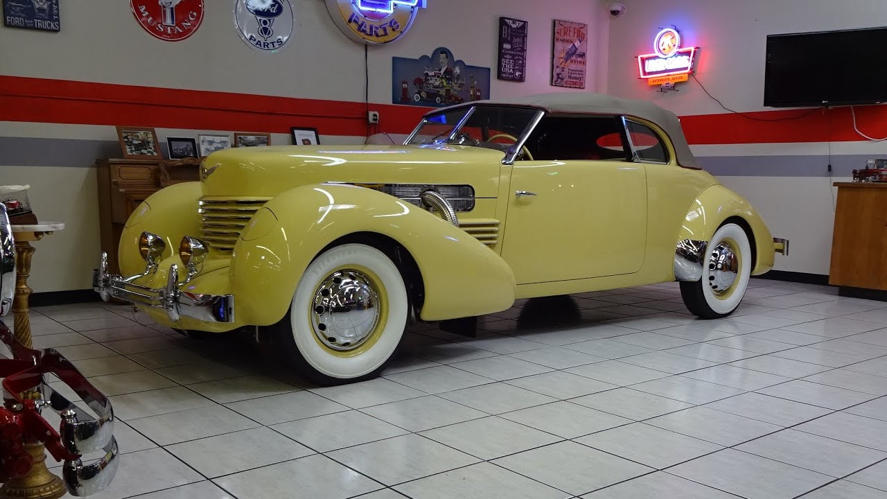 1937 Cord 812 Phaeton Convertible Supercharged Engine Sound On My Car Story With Lou Coile You