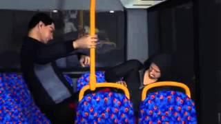 shocking london bus fight man kicked through top window of double decker bus