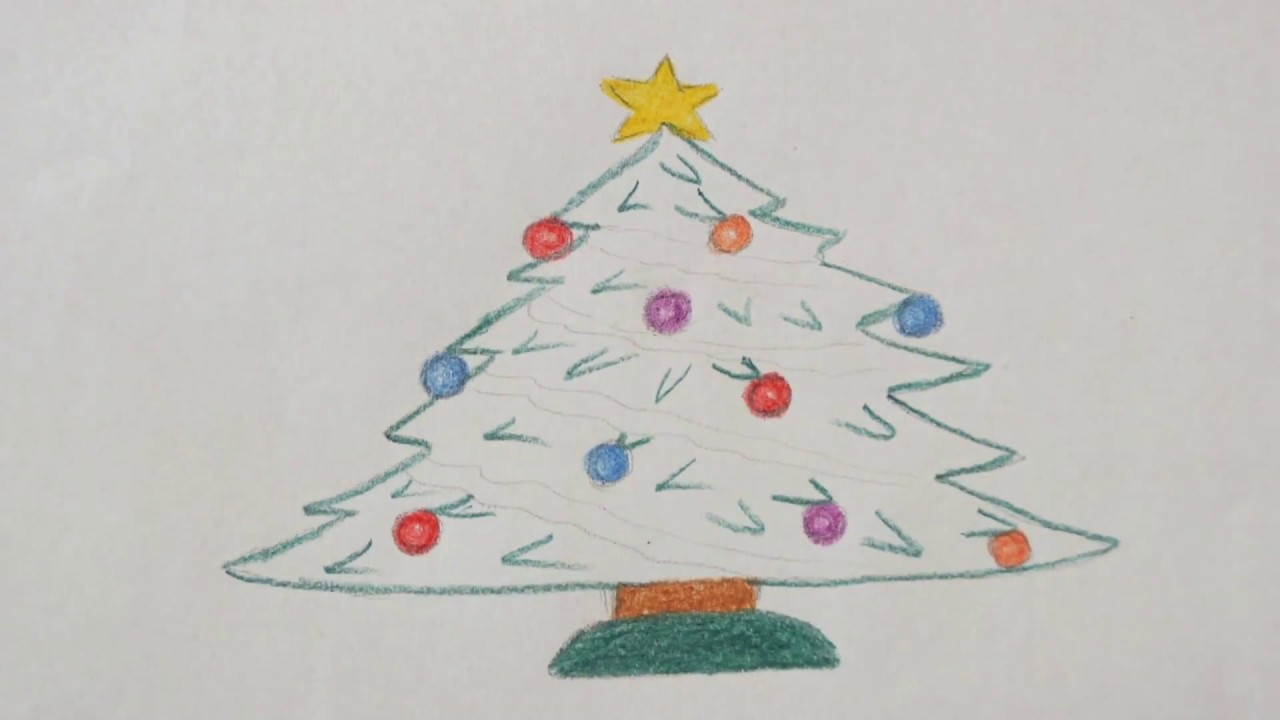 Weihnachtsbaum Malen How To Draw Christmas Tree как