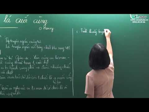 [Ngữ văn 8] Chiếc lá cuối cùng ( tiết 1 ) - Cô Triệu Ngọc Linh - Liên hệ: 0932.39.39.56
