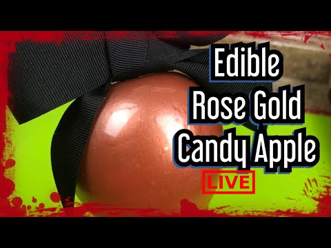 ROSE GOLD CANDY APPLES  [EDIBLE]