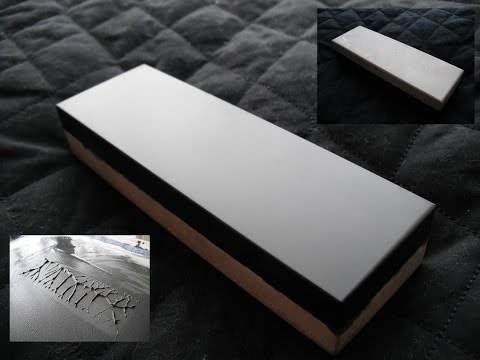 Using natural sharpening stone with mineral oil