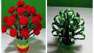 DIY: New Design Woolen Guldasta    With plastic bottle Goldasta    Empty plastic bottle Goldasta