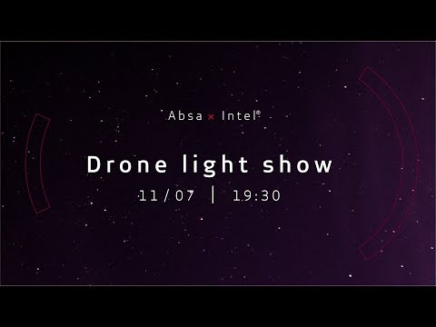 Absa x Intel Drone Light Show