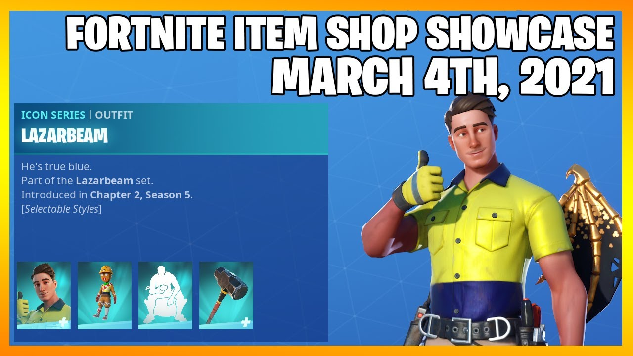 Fortnite Item Shop *NEW* LAZARBEAM BUNDLE! [March 4th, 2021] (Fortnite Battle Royale)