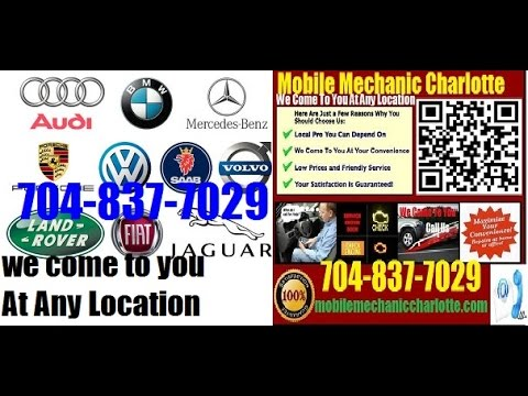 Top European and German Foreign Auto Repair Charlotte Mobile Mechanic Service Near Me