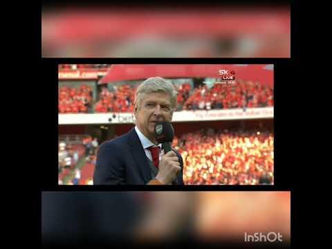 Arsene Wenger CEREMONY Leaving Arsenal, last home game vs Burnley #tribute #merciarsene