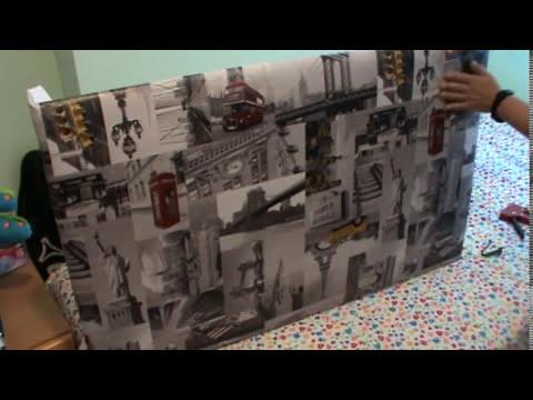 Cabecero de cama con hule de cocina youtube - Como hacer un cabezal para la cama ...