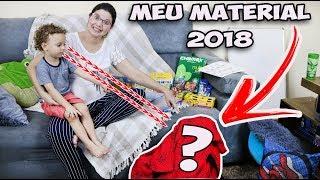 MOSTRANDO MEU MATERIAL ESCOLAR 2018