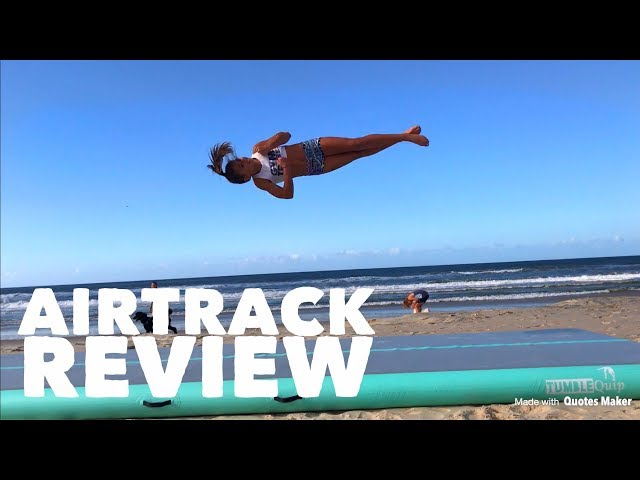 AIRTRACK REVIEW -Beach Tumbling -Testing airtrack by TumbleQuip - what size airtrack should you buy?