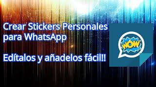 Cómo Crear Stickers para WhatsApp Fácil!!! (2019)