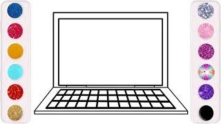 رسم وتلوين لاب توب للاطفال/ لعب ومرح للاطفال/ drawing & coloring laptop for kids