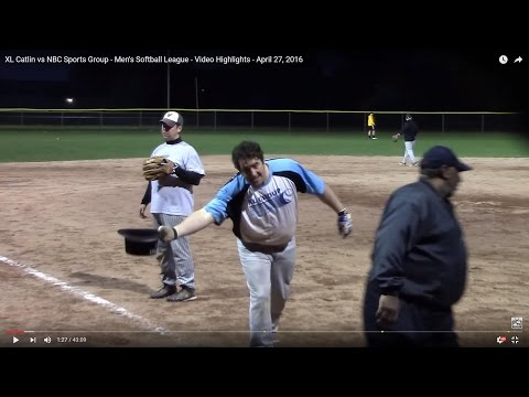 XL Catlin vs NBC Sports Group - Men's Softball League - Video Highlights - April 27, 2016